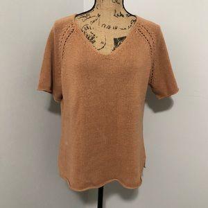 {j.jill} Camel Linen Knitted Sweater